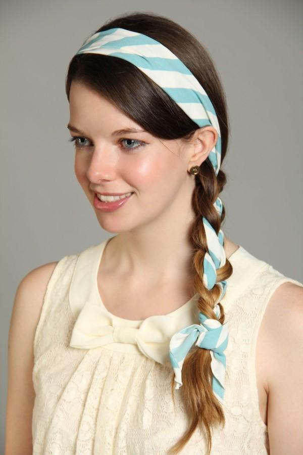 Stilvolle Frisuren mit Haarband für jeden Anlass und jede Jahreszeit flechtfrisur ideen tuch