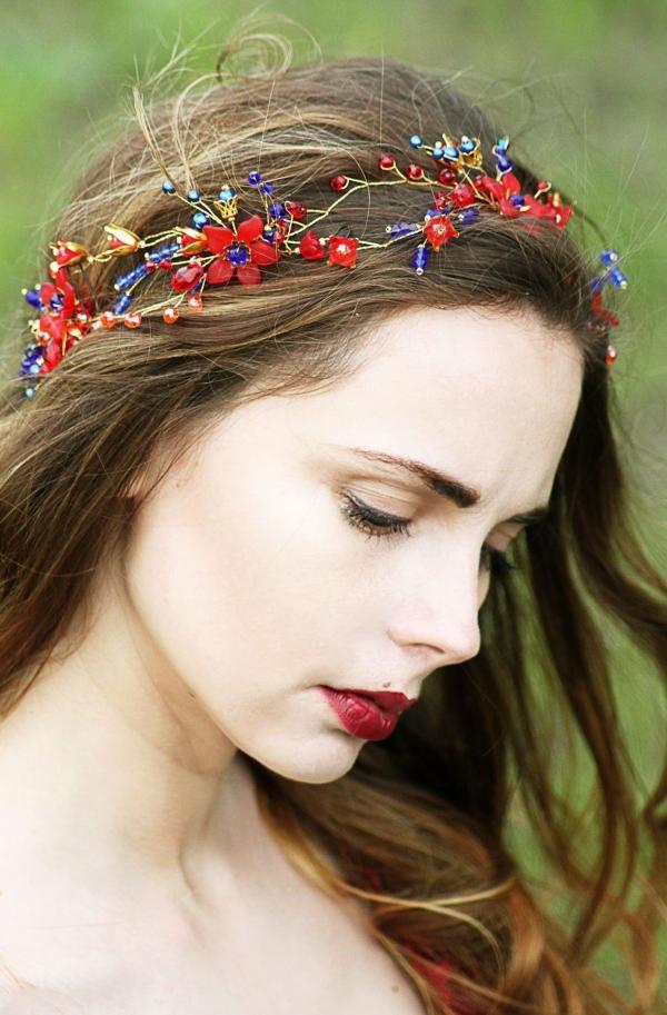 Stilvolle Frisuren mit Haarband für jeden Anlass und jede Jahreszeit sommer schmuck ideen makeup