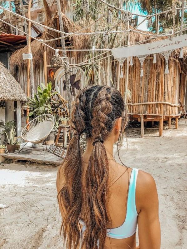 Surfer Frisur – der aktuelle Sommerlook schlechthin surfer flechten zopfe