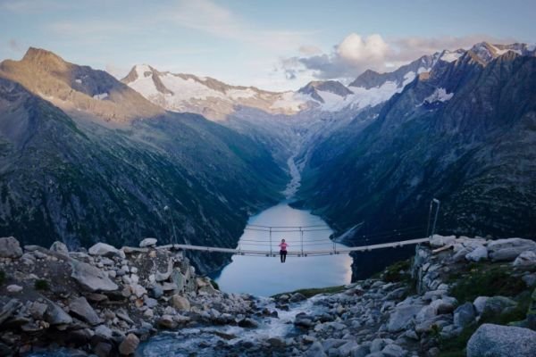 Vignette - tolle Seen und Gebirgen