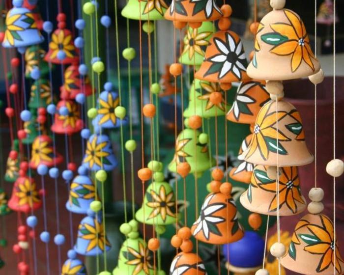 Windspiel basteln mit Naturmaterialien diy ideen glocken