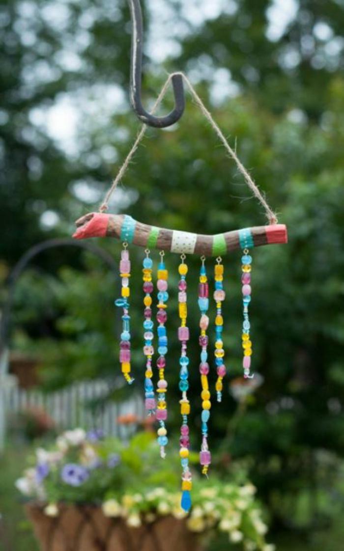 Windspiel basteln mit Naturmaterialien diy ideen treibholz