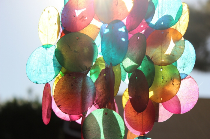 Windspiel basteln mit Naturmaterialien diy ideen wieder verwerten