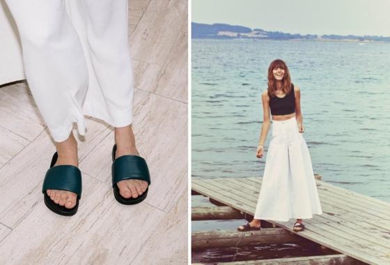 adiletten slides outfit ideen sommer