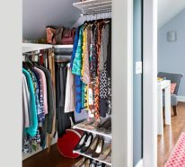 Praktische Ankleidezimmer Ideen, die perfekte Ordnung im Kleiderschrank versprechen
