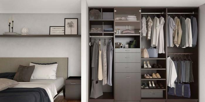ankleidezimmer ideen schlafzimmer ordnung kleiderschrank