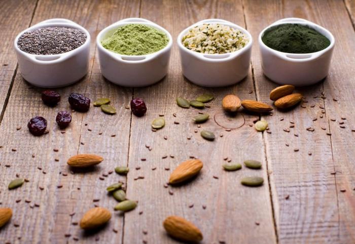 clean eating rezepte beispiel teller getreide nuesse