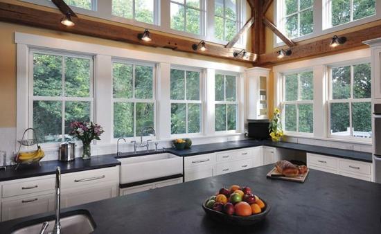 küche ohne hängeschränke fenster wohnküche