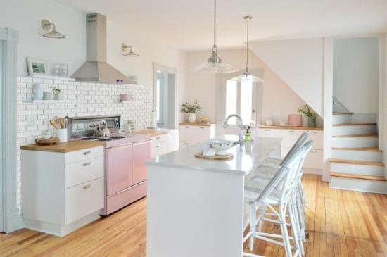 küche ohne hängeschränke metrofliesen wohnküche ideen