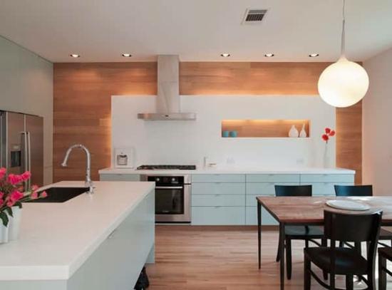 küche ohne hängeschränke moderne alternative