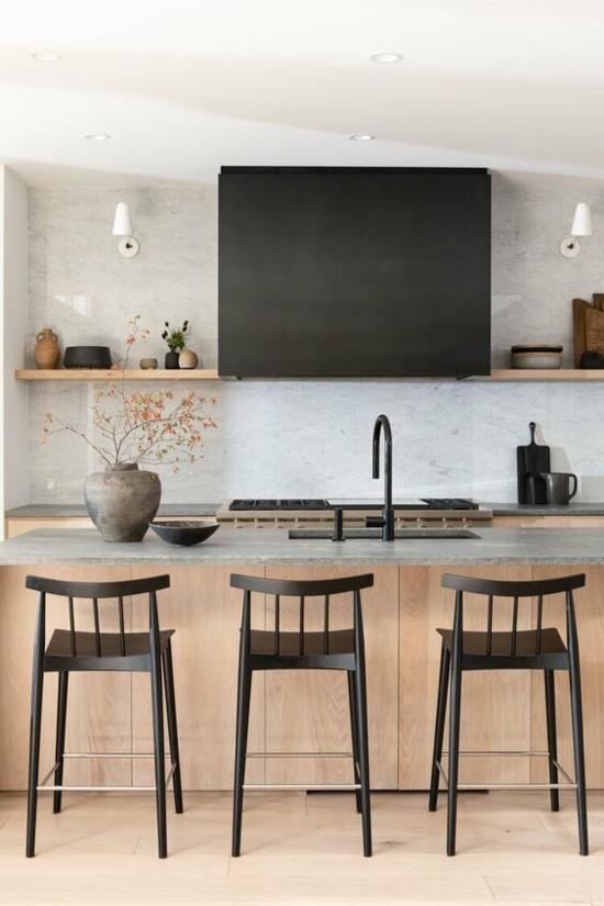 küche ohne hängeschränke modernes asia design