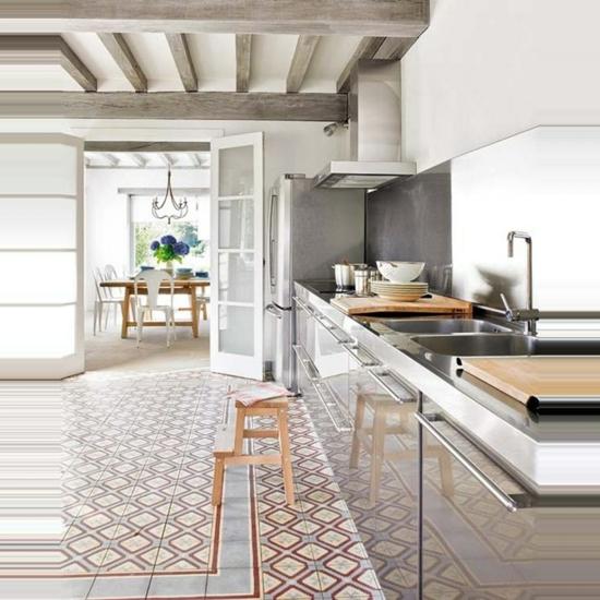 küche ohne hängeschränke modernes design