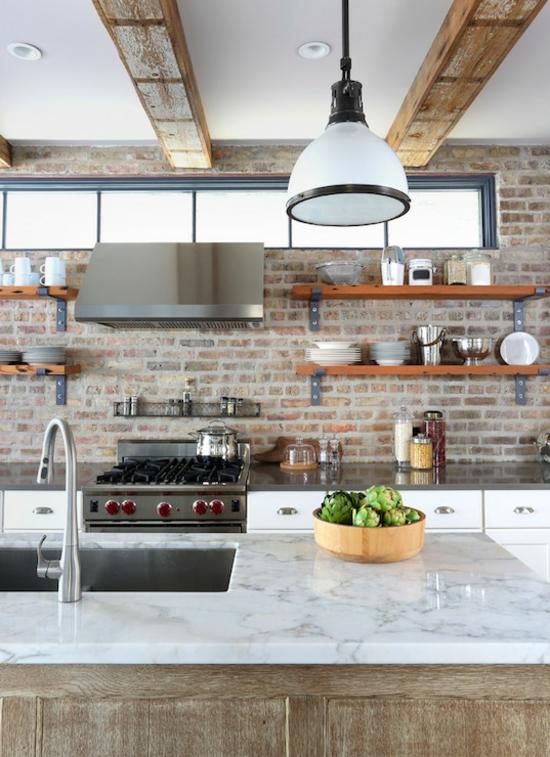 küche ohne hängeschränke modernes industry design