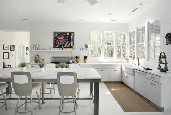 küche ohne hängeschränke wohnküche puristisch gestalten