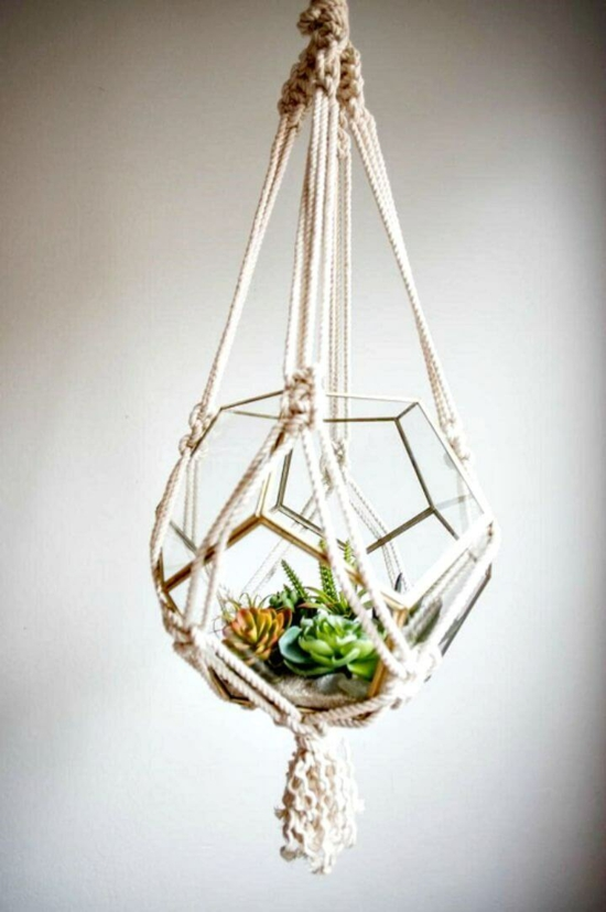 makramee blumenampel terrarium selber machen