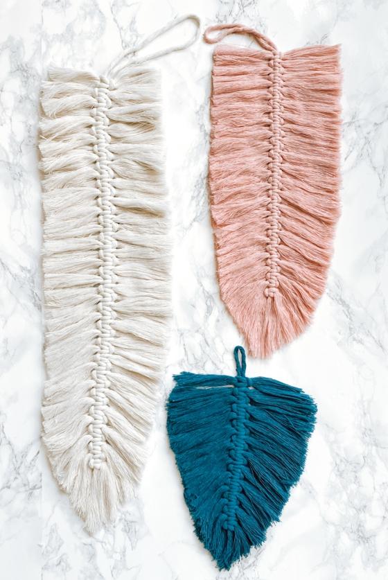 makramee feder bunte farben geschenkideen