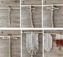 Makramee Feder – eine super einfache Anleitung und tolle Ideen für Ihre Deko im Boho Stil
