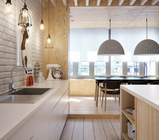 modernes design offener wohnplan küche ohne hängeschränke