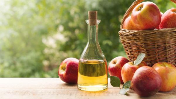 natürliche Fettverbrenner frische Äpfel Apfelessig konsumieren Fettdepots abbauen