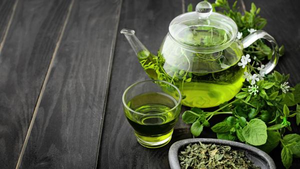 natürliche Fettverbrenner grünen Tee trinken viele positive Seiten entdecken