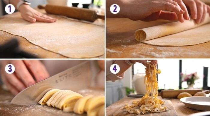 pasta selber machen mit füllung wie schneiden
