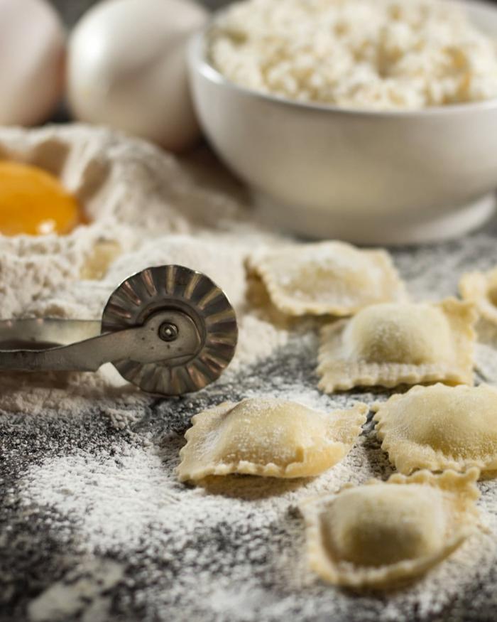 pasta selber machen'mit füllung raviolifeinschmecker