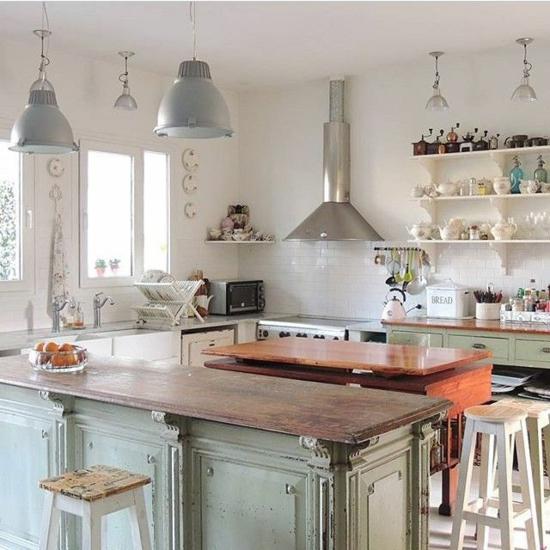 rustikale küche ohne hängeschränke