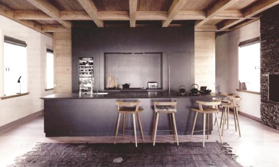trendige küche ohne hängeschränke gestalten