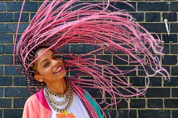 90er Jahre Frisuren erleben ein Comeback mit coolen Schnitten und Styles Box Braids Modern Pink