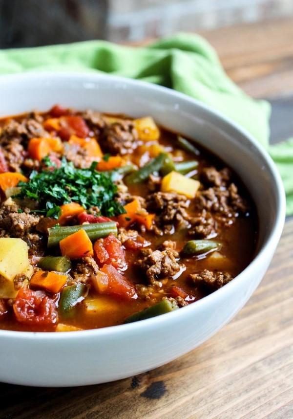 Cheeseburger Suppe – köstliches und gesundes Rezept für Fast Food Fans gemüse suppe lecker vitaminreich