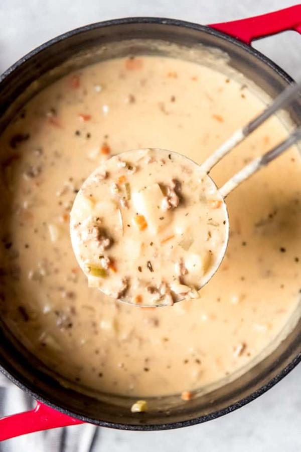 Cheeseburger Suppe – köstliches und gesundes Rezept für Fast Food Fans suppe lecker gesund