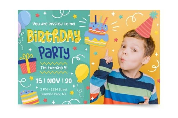 Einladung Ideen Text schreiben Kindergeburtstag Einladungskarten gestalten