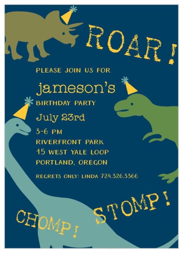 Einladung Wortlaut Kindergeburtstag feiern Dino Einladungskarten gestalten