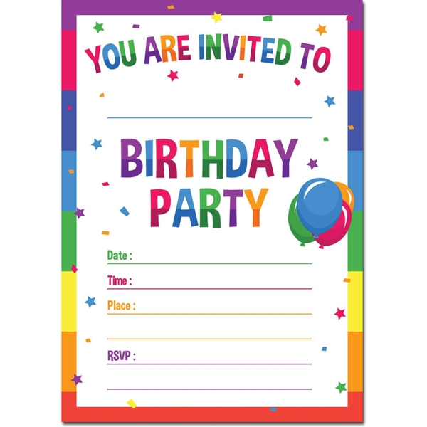 Einladung Wortlaut Kindergeburtstag feiern Einladungskarten