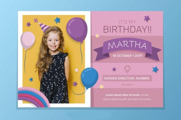 Einladung schreiben Kindergeburtstag feiern Einladungskarten gestalten