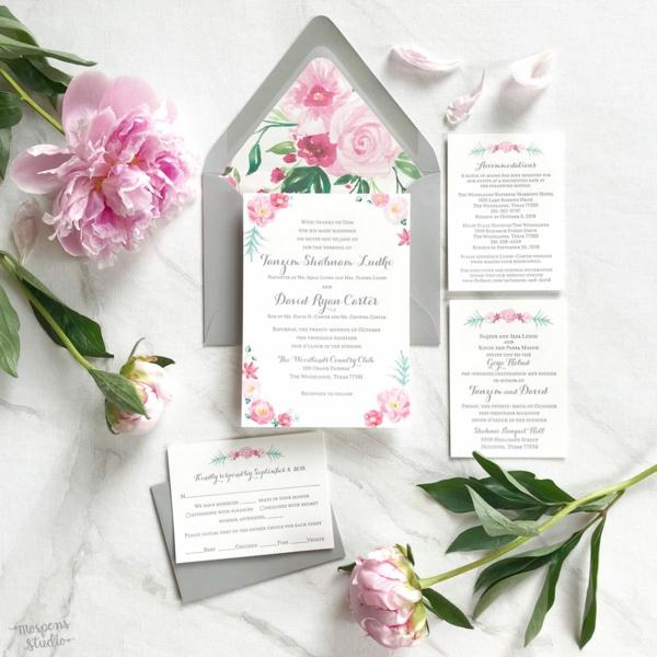Einladungskarten Hochzeit Blumen Wortlaut
