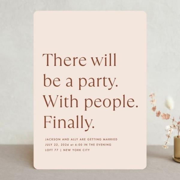 Einladungskarten Hochzeit Ideen schlichtes Design