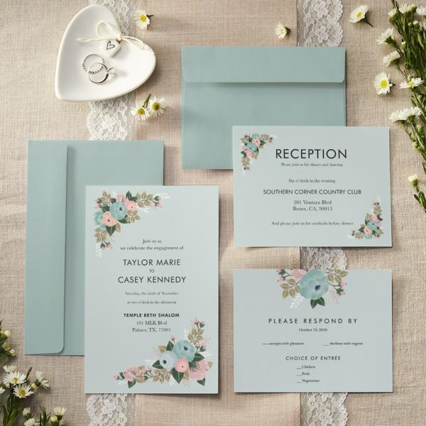 Einladungskarten Hochzeit Zeremonie Feier