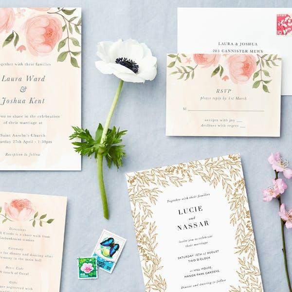 Einladungskarten für Hochzeit Einladungsinformation