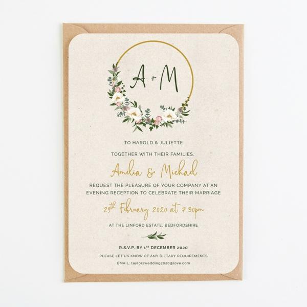 Einladungskarten für Hochzeit gestalten Ideen Beispiele