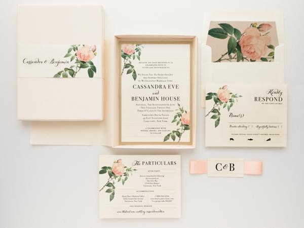 Einladungskarten für Hochzeit schlichtes Design