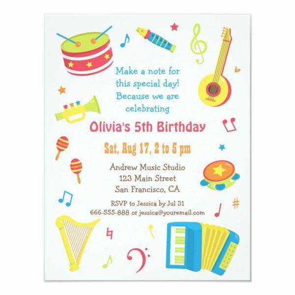 Einladungskarten gestalten und selber schreiben Kindergeburtstag Ideen