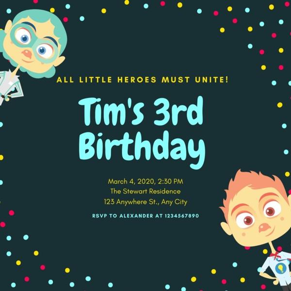 Einladungskarten gestalten und selber schreiben Kindergeburtstag Party Ideen