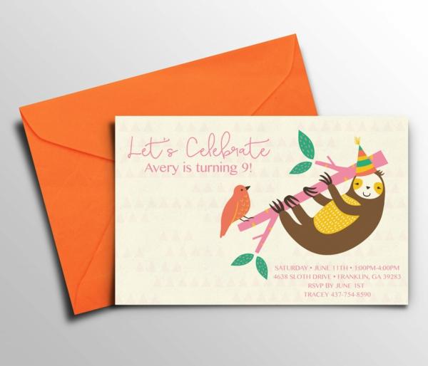 Einladungskarten Kindergeburtstag thematische Geburtstagsparty veranstalten