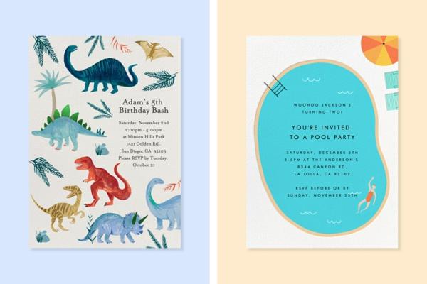 EinladungskartenKindergeburtstag thematische Geburtstagsparty