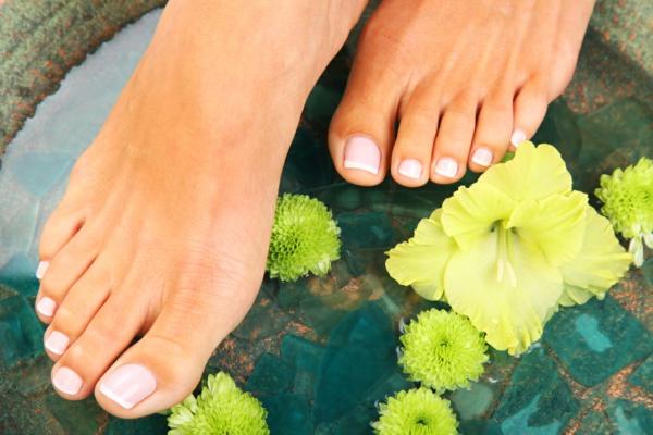 Fußpflege Sommer Fußpeeling selber machen