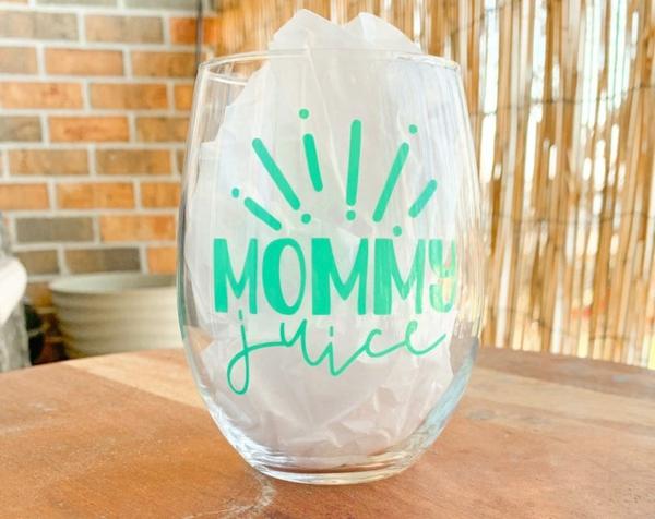 Geschenk für neue Mama Glas