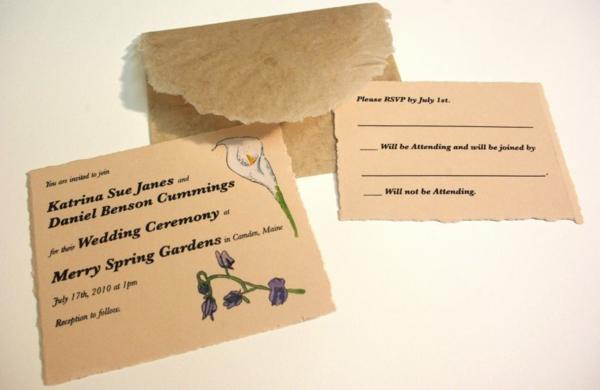 Ideen für Einladungskarten Hochzeit Text Papier Richtlinien