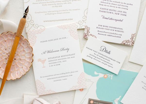 Ideen für Einladungskarten Hochzeit Text Richtlinien Gäste
