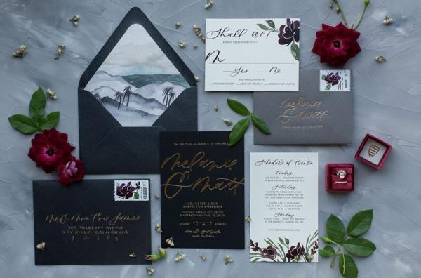 Ideen für Einladungskarten Hochzeit Text Richtlinien Umschlag